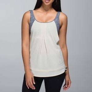 Lululemon Tank Top 8 Run Times Heathered Ghost 206